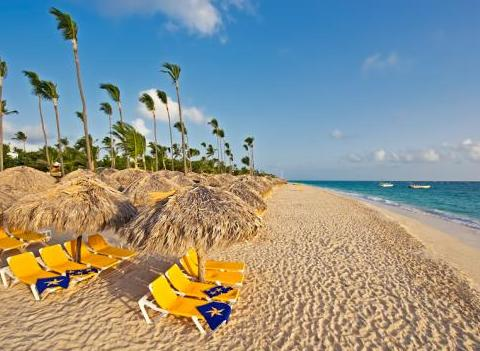 Iberostar Bavaro All Suite Resort Beach Lounge Chairs With Palapa For Shade
