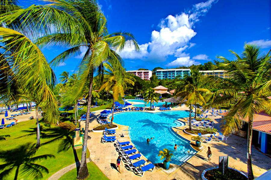 St Lucia Uvf Almond Morgan Bay Beach Resort