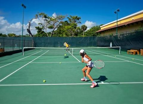 Tennis Court At Iberostar Bavaro All Suite Resort Activities